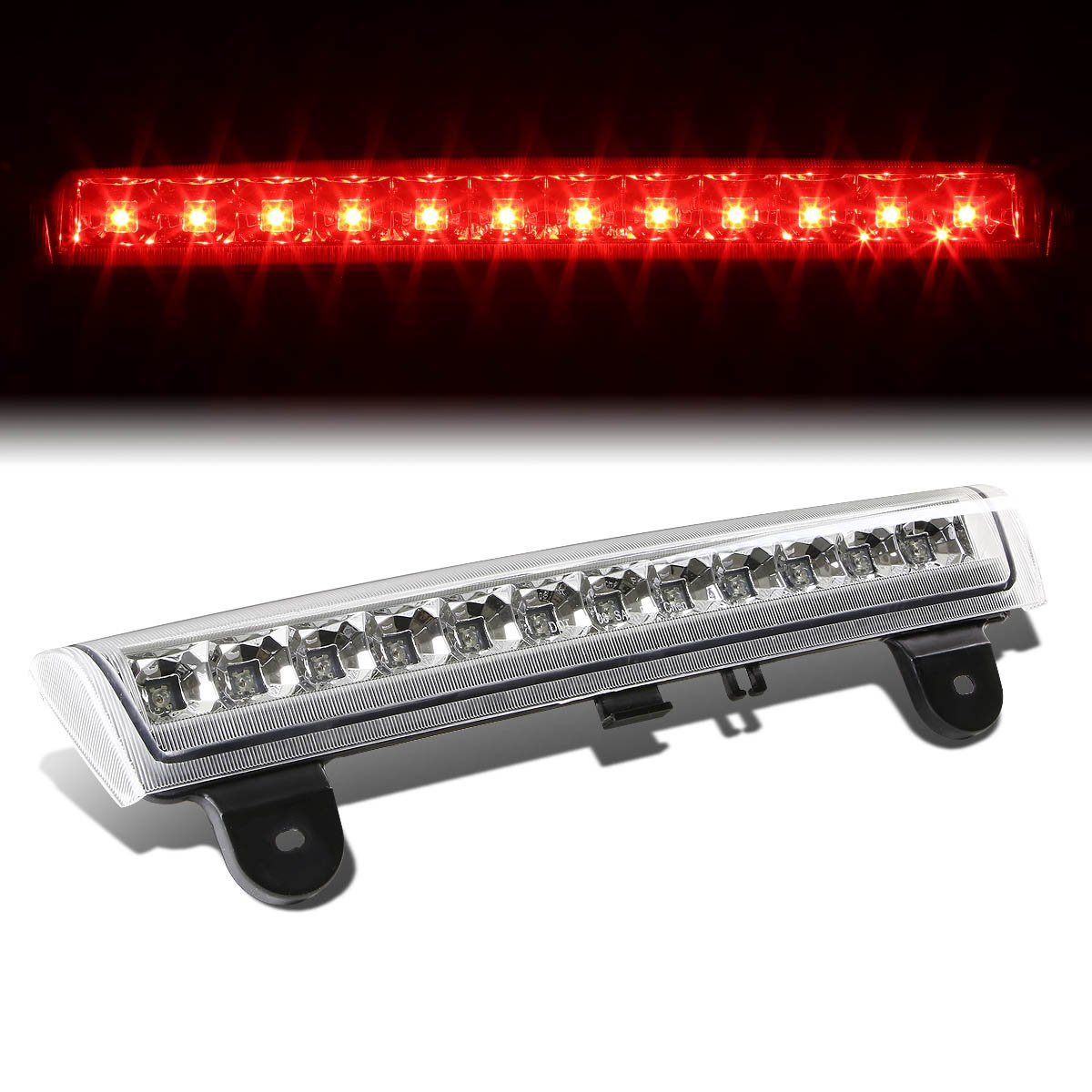 For Chevy Tahoe/Suburban / GMC Yukon GMT800 High Mount LED 3rd Brake Light (Black Housing Smoke Lens) Auto Dynasty
