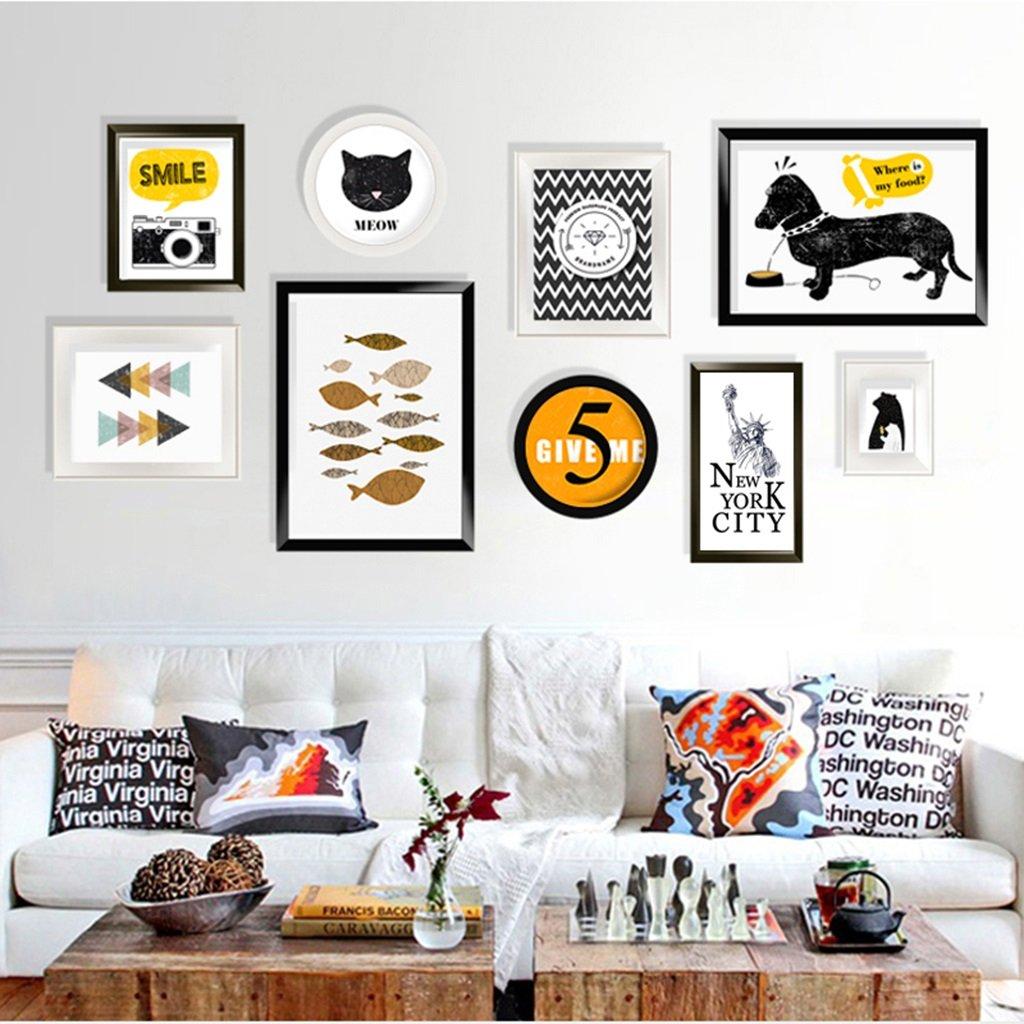 Marco decorativo 9 unids / set Collage Photo Frame Set, marcos de fotos de época, Family Frame Frame, marcos de fotos de boda DIY Photo Frame Sets para Wall ...