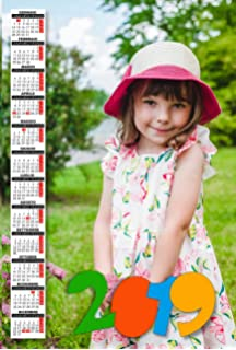 Calendario Bimbi.Calendario Plastificato A3 Personalizzato Foto 2019 Parete