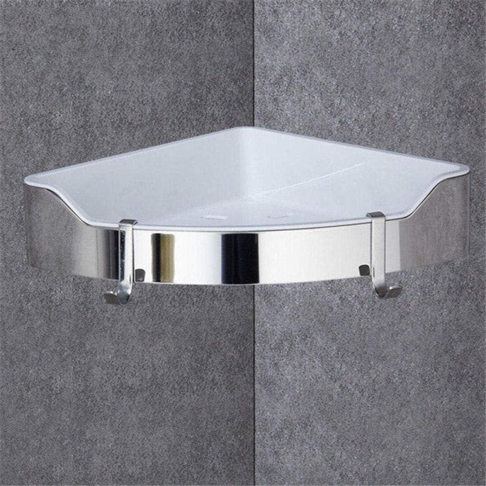 LIZHON Estante de Esquina Acero Inoxidable Dorado + ABS Estantes de baño Cromo Montaje en Pared triángulo Ducha Caddy Rack Accesorios de baño @ Chrome_Two_Tiers: Amazon.es: Hogar