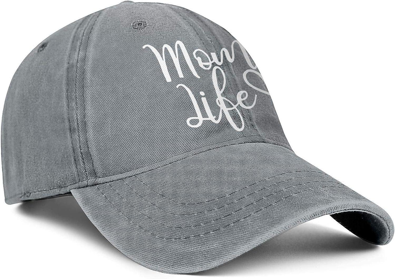 TopCrazy Mom Life Heart Denim Sports Cap Men//Women Best Cowboy Snapback Cap