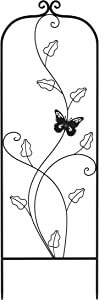 Pure Garden 50-LG5084 Black Garden Trellis-for Climbing Plants-46-Inch