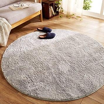 Morbuy Tapis Rond Lavable 80cm/100 cm Tapis en Peluche Interieur