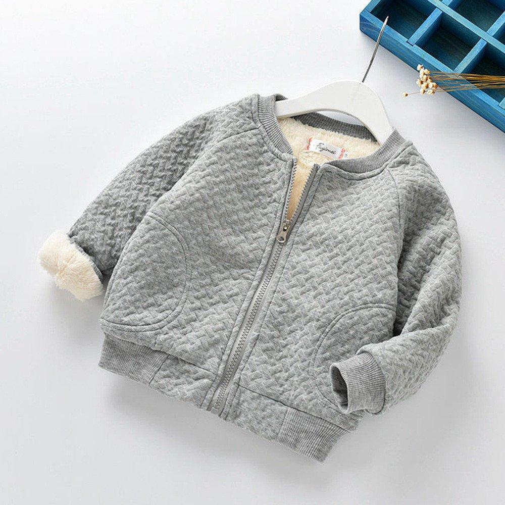 New Baby Boys Ex M*S Green Blue Striped Warm Fleece Zipped Top Jumper Sweater