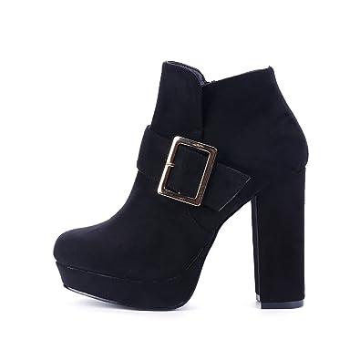 DFRNT Women's Bela Buckle Embellishment Strap Ankle Boot