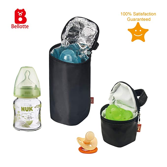 Bottle Tote Insulated Baby Bottle Bag/&Pacifier Pouch Lunch Cooler BagTote