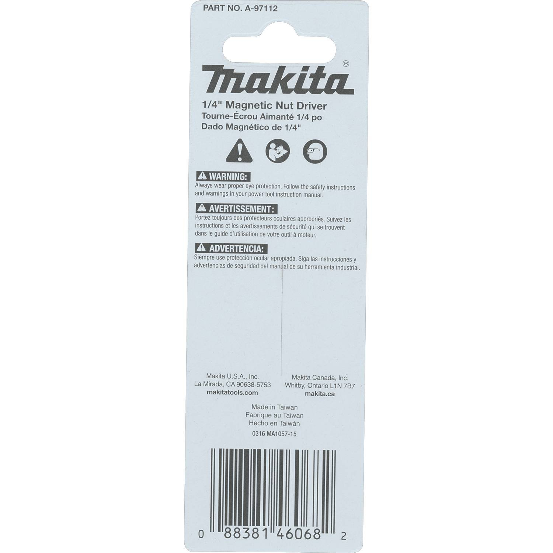 10-Pack Bulk Makita A-97128 Impactx 1//4 x 2-9//16 Magnetic Nut Driver