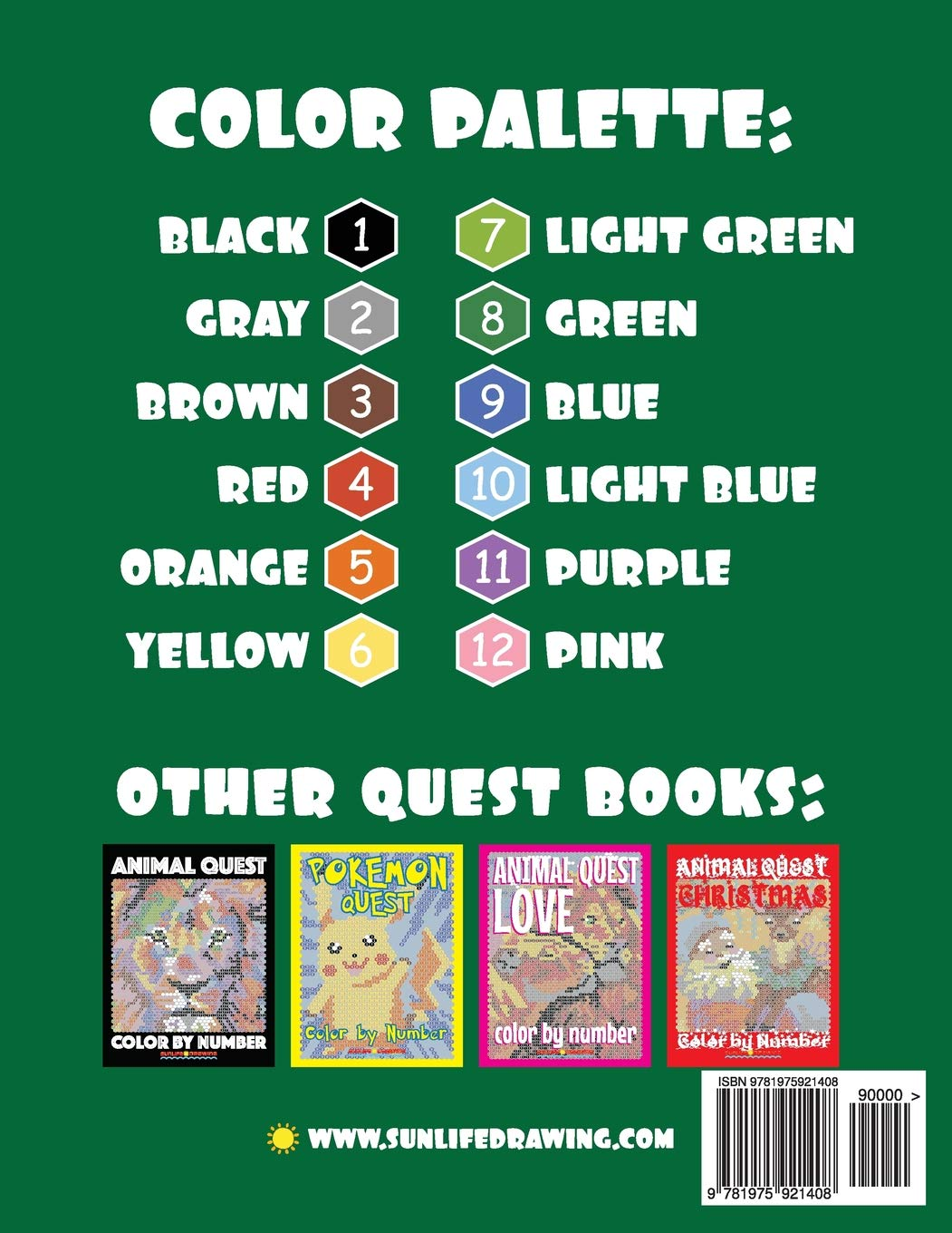 Amazon.com: BABY ANIMAL QUEST Color by Number: Activity Puzzle ...