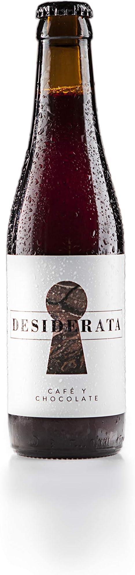 Desiderata - Café y chocolate - Cerveza artesana 100% natural sevillana, sin aditivos, colorantes ni conservantes - Sabor a chocolate negro, azúcar de caña y café - 1 uds