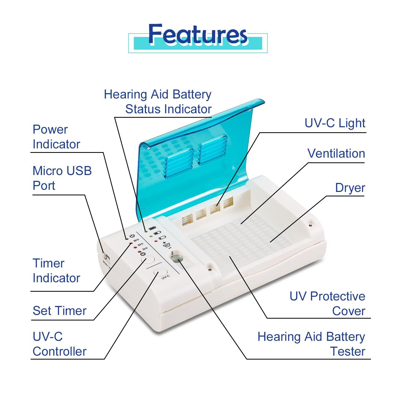 Amazon.com: Mimitakara™ (Hearing Device Sanitizer and Dryer) for ...
