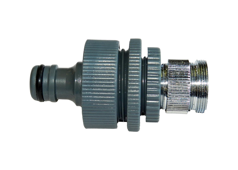 Robinet adaptateur 5 piè ces pour robinet avec filetage Fein (M 22 x 1-, M 24 x 1 filetage exté rieur), grossier filetage interne 1 ', 3/4' 1/2 'AG, compatible Gardena pour mé nagers Robinet standard