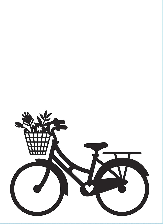 4.25 x 5.75 inches Embossing Folder Clear Darice 30032598 Bike