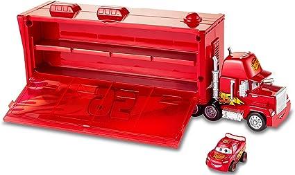 Amazon Com Disney Pixar Cars Mini Racers Mack Transporter Toys