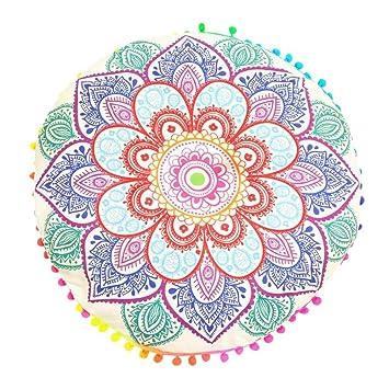 80 * 80 cm india Mandala estilo bohemio cojín upxiang Caso ...