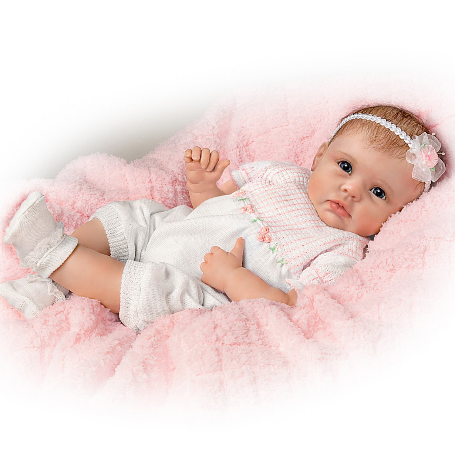 So Truly Real Olivia's Gentle Touch Lifelike Baby Girl Doll By Linda Murray by The Bradford Exchange
