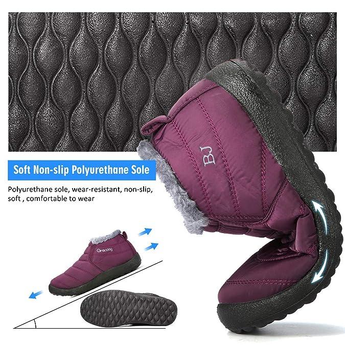 d4543e4e34e Amazon.com  gracosy Warm Snow Boots