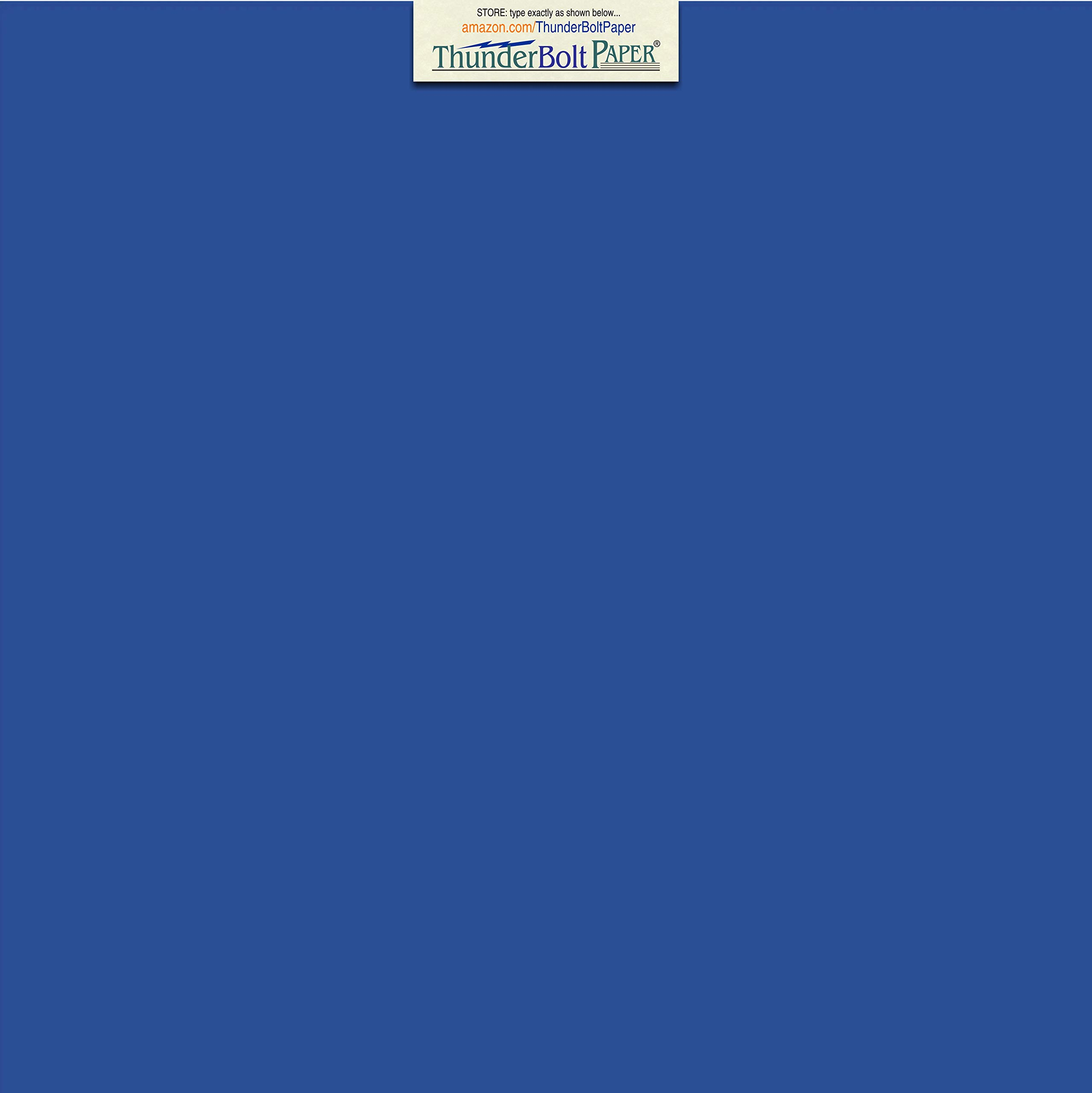 100 Bright Royal Blue Color 65# Cover/Card Paper Sheets 12 X 12 Inches Scrapbook Album Cover Size - 65 lb/pound Light Weight Cardstock - Quality Smooth Paper Surface by ThunderBolt Paper