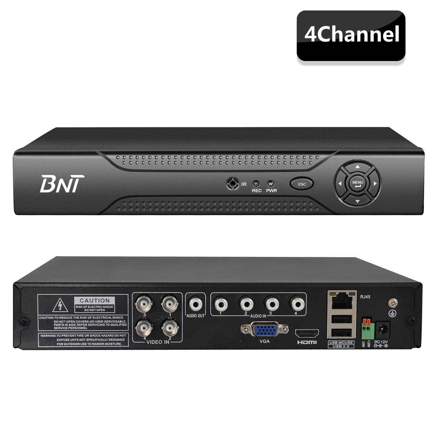 4CH AHD DVR with Monitor, AHD Security System Tollar 858045 BNT AHD Security Camera System