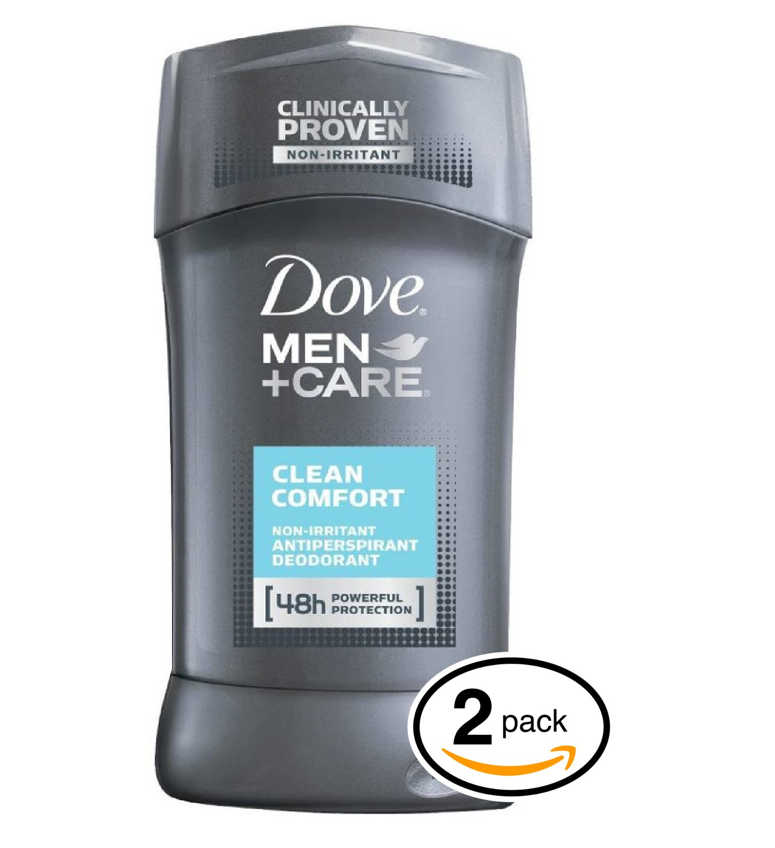 Dove MEN+CARE Clean Comfort Dry Antiperspirant & Deodorant (2.7-Ounce (Twin Pack), Clean Comfort)