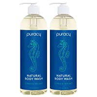Puracy Body Wash, Citrus & Sea Salt, Natural Bath & Shower Gel for Men and Women...