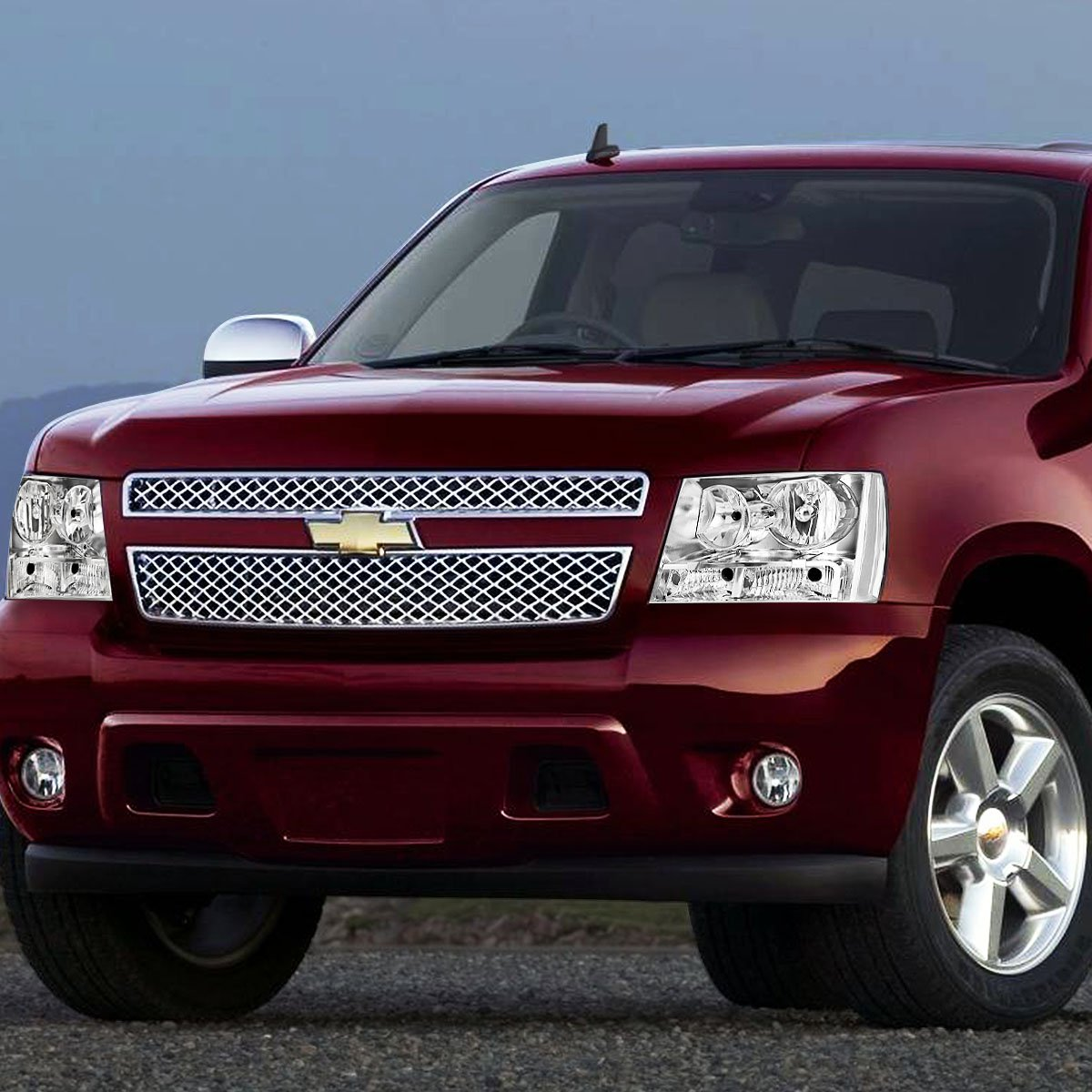 For 07-14 Chevy Tahoe//Avalanche//Suburban DNA Motoring HL-OH-CSA07-CH-CL1 Pair of Headlight