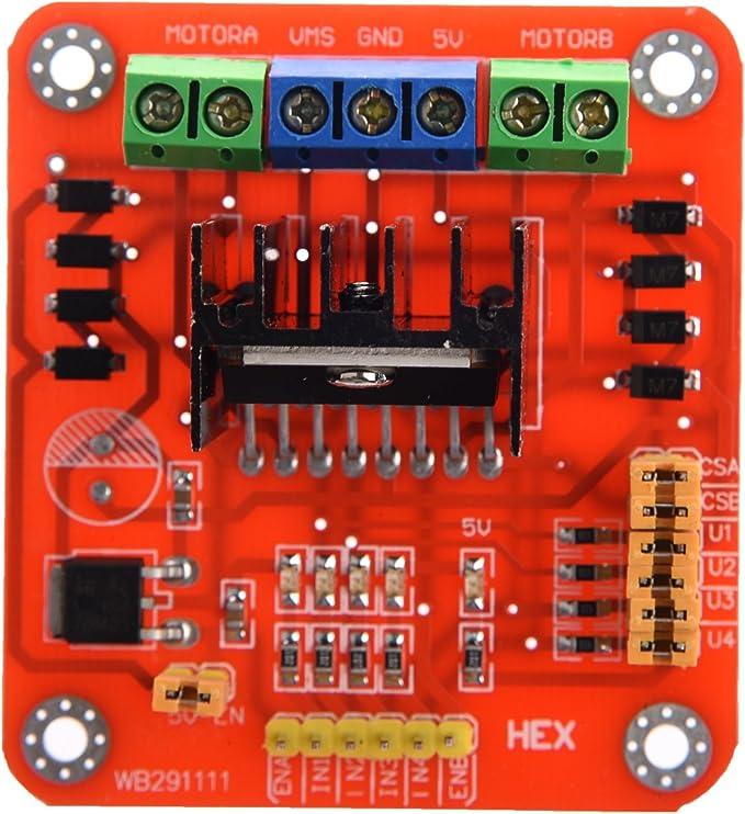 Vaorwne 5 Stueck L298N Motor Antrieb Kontrolleur Brett Doppelt H-Bruecke Roboter Schritt Motor Steuerung Und Antriebe Modul Fuer Intelligentes Auto Strom Mega R3 Mega2560