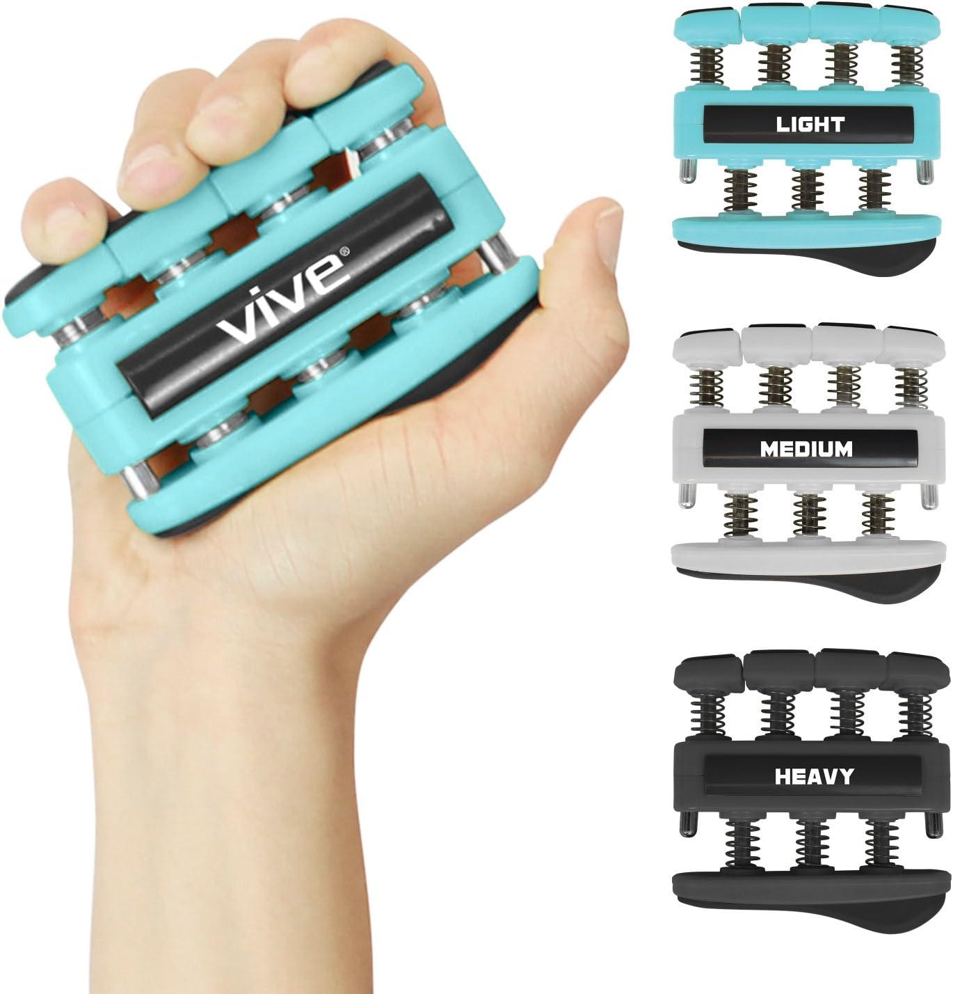 3 Pack Finger Strengthener Exerciser for Forearm and Hand...