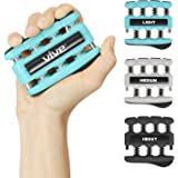 Finger Strengthener by Vive (3 Pack) Hand Grip Equipment for Guitar, Musicians, Rock Climbing & Therapy - Gripper with Exercise Guide for Strengthening Muscles