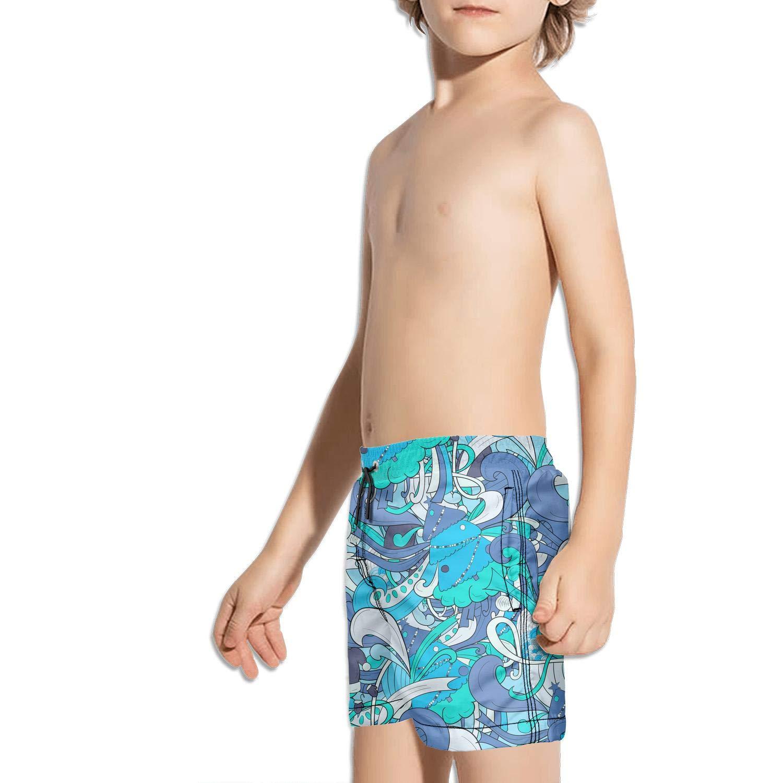 Kukuzql Little Boys Novelty Grill BBQ Print Creative Short Swim Trunks Quick Dry Beach Shorts