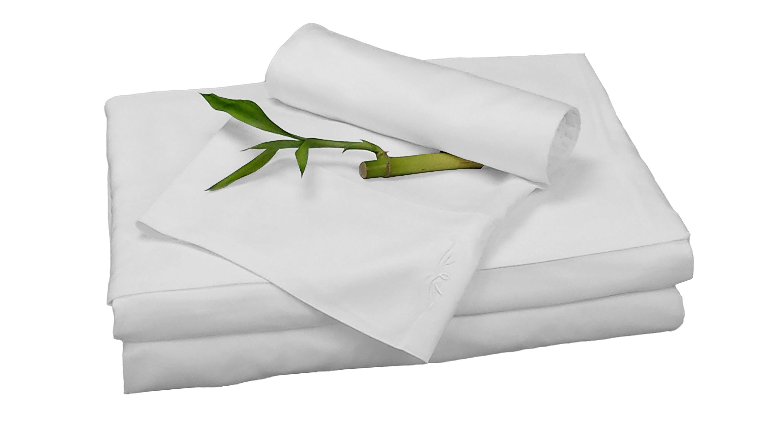 100% Bamboo Rayon Sheet Sets by BedVoyage the Eco Resort Linen Collection is Spa and Resort Luxury in Your Own Bedroom (Cal King, White)