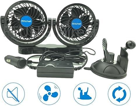 si/ège arri/ère camion Ventilateur de voiture double ventilateur avec USB et allume-cigare 3 vitesses r/églable pour voiture etc.