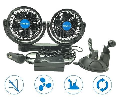 Ventiladores para vehículos, de FTUNG, 12 V, ventilador para coche con ventosa en