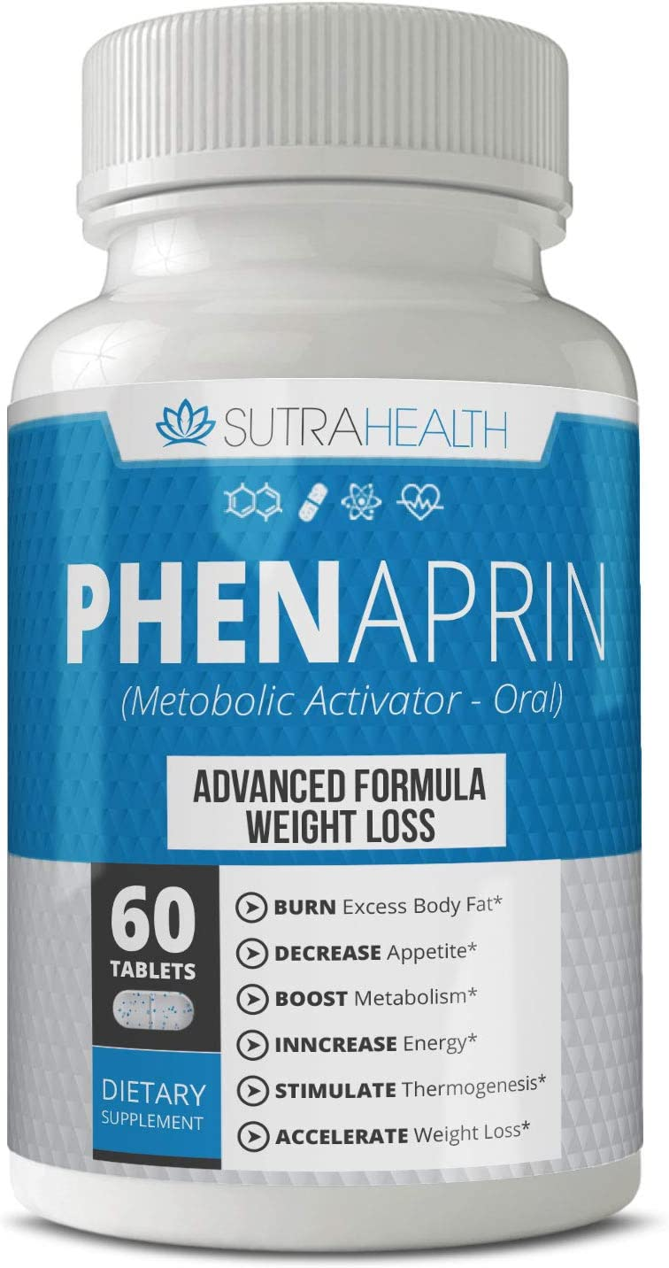 PhenAprin Diet Pills Best Appetite Suppressant Weight Loss and Energy Boost for Metabolism Optimal Fat Burner Supplement Helps Curb and Control Appetite, Promotes Mood Brain Function