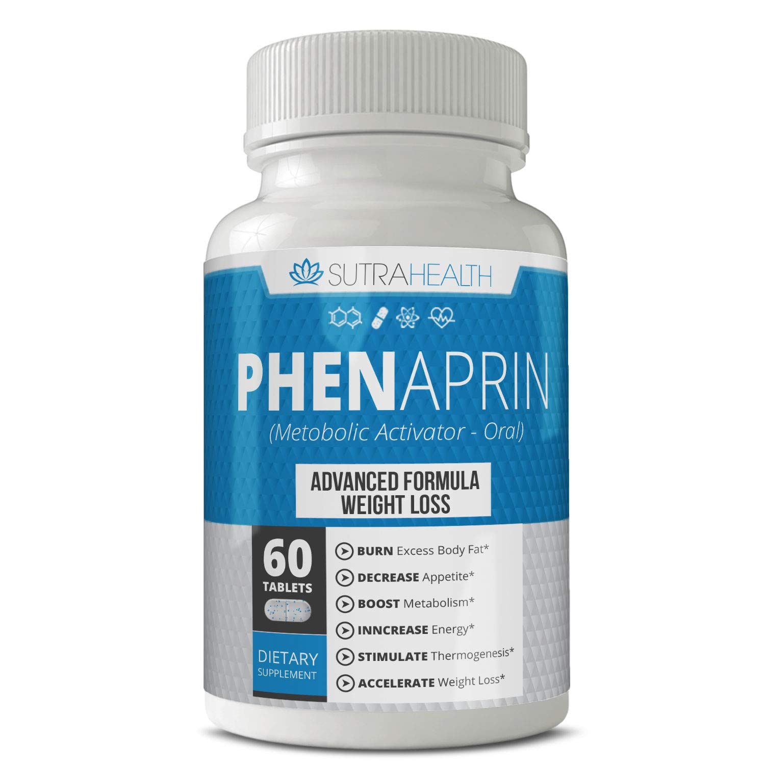 PhenAprin Diet Pills - Best Appetite Suppressant: Weight Loss and Energy Boost for Metabolism - Optimal Fat Burner Supplement; Helps Curb and Control Appetite, Promotes Mood & Brain Function by PhenAprin