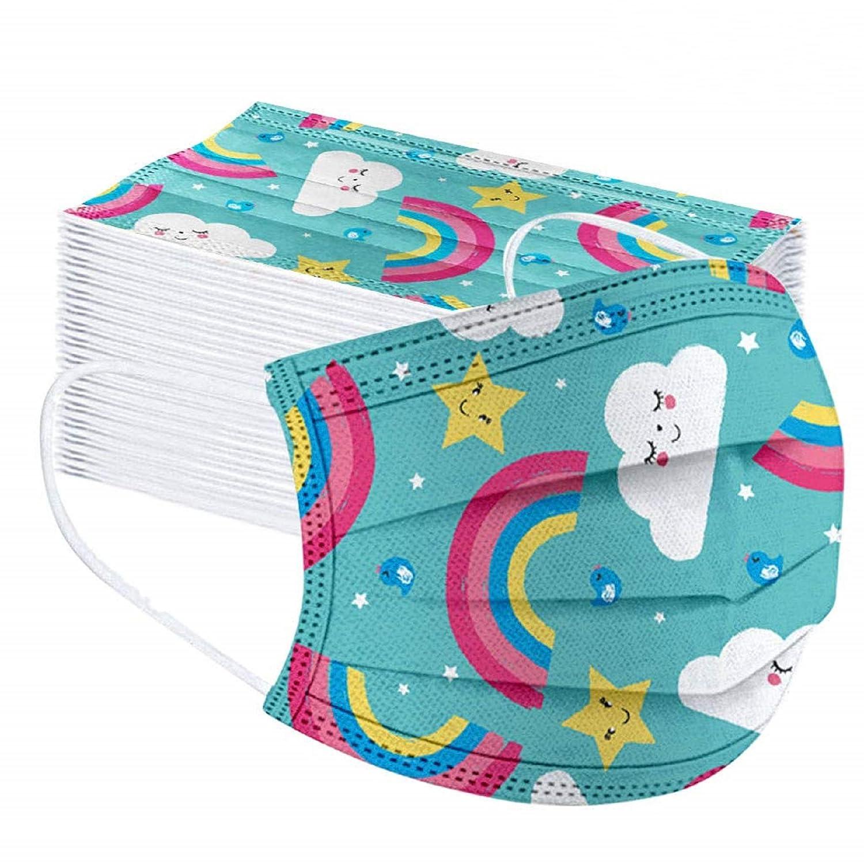 MaNMaNing Niños Protección 3 Capas Transpirables con Elástico para Los Oídos Pack 50 unidades 20200717-MaNMaN-RA01