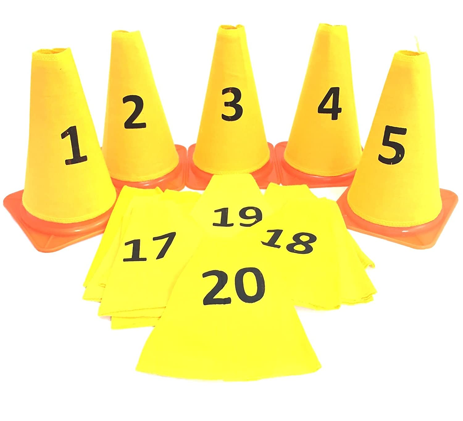 Number Cone sleeves (from 1 to 20) Yellow One Size Splay 60388-543