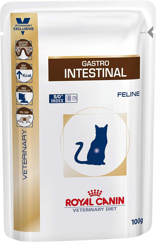 Royal Canin C-58398 Diet Feline Gastro Intestinal, caja con 12 sobres de 100 gr
