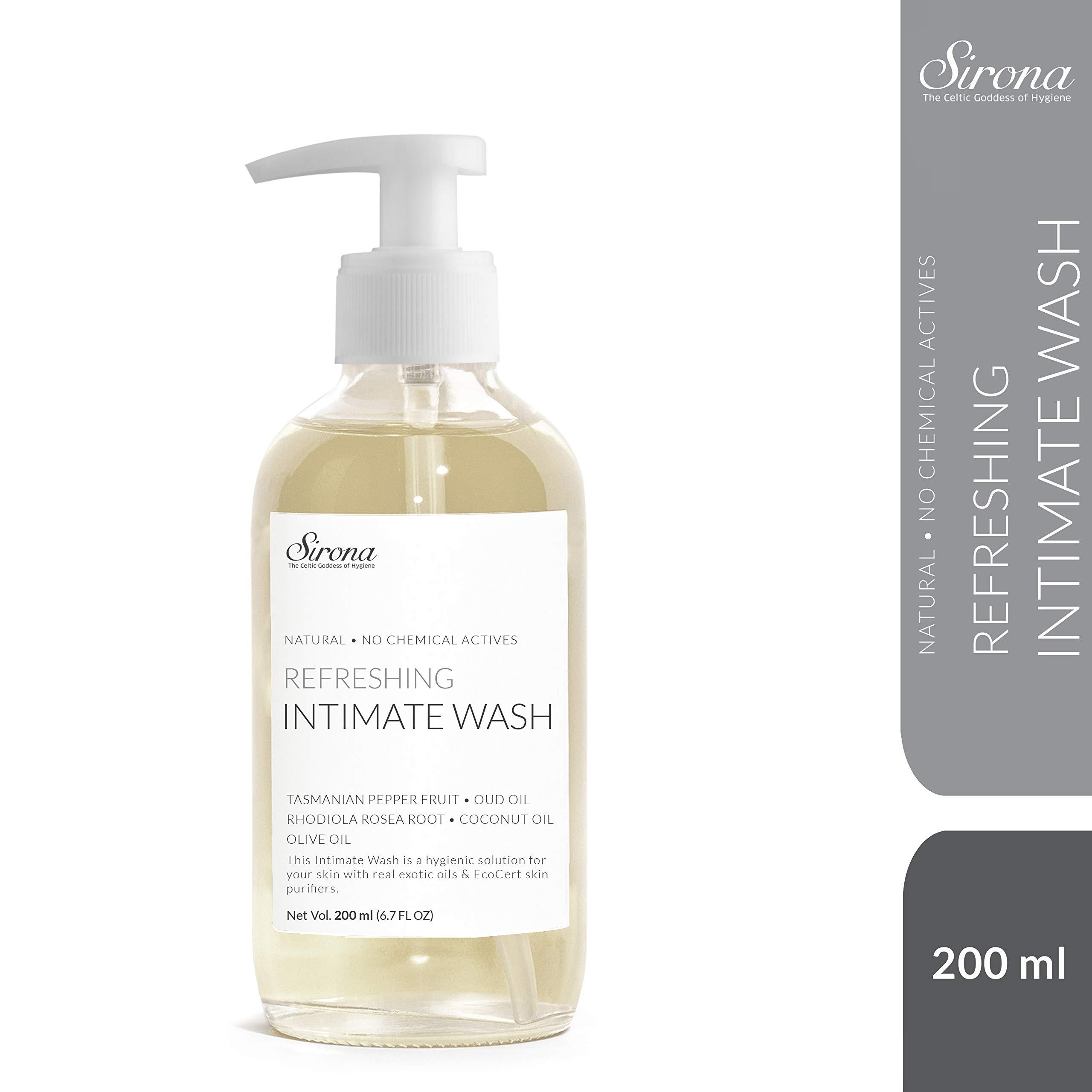 Sirona Natural Ph. Balanced Intimate Wash with 5 Magical Herbs and No Chemical Actives - 200 ml (White) product image