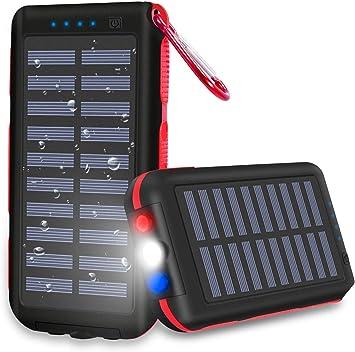CXLiy Powerbank - Cargador solar portátil de 25000 mAh, gran ...