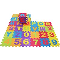 MagiDeal ABC 123 Alphabet Tiles Numbers Jigsaw Puzzle Soft Foam Play Floor Mats Child Kid