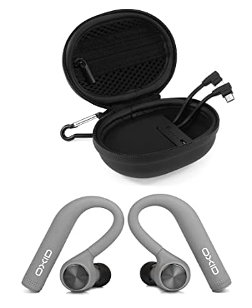 OXID AudioBuds True Wireless Bluetooth Headphones with Charging & Protective Case for Over 15 Hours Playtime