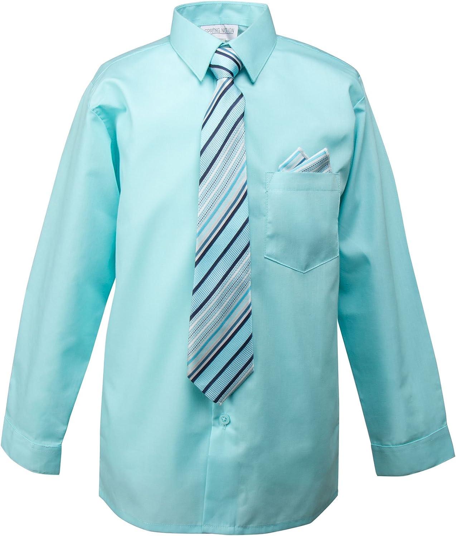 Spring Notion Baby Boys Long Sleeve Dress Shirt 18M Turquoise
