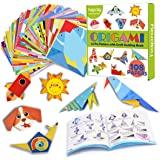 hapray Color Origami Paper for Kids, Origami Kit, 118 Sheets 6 Inch Double Sided Origami with 54 Projects, 55 Pages Guiding O