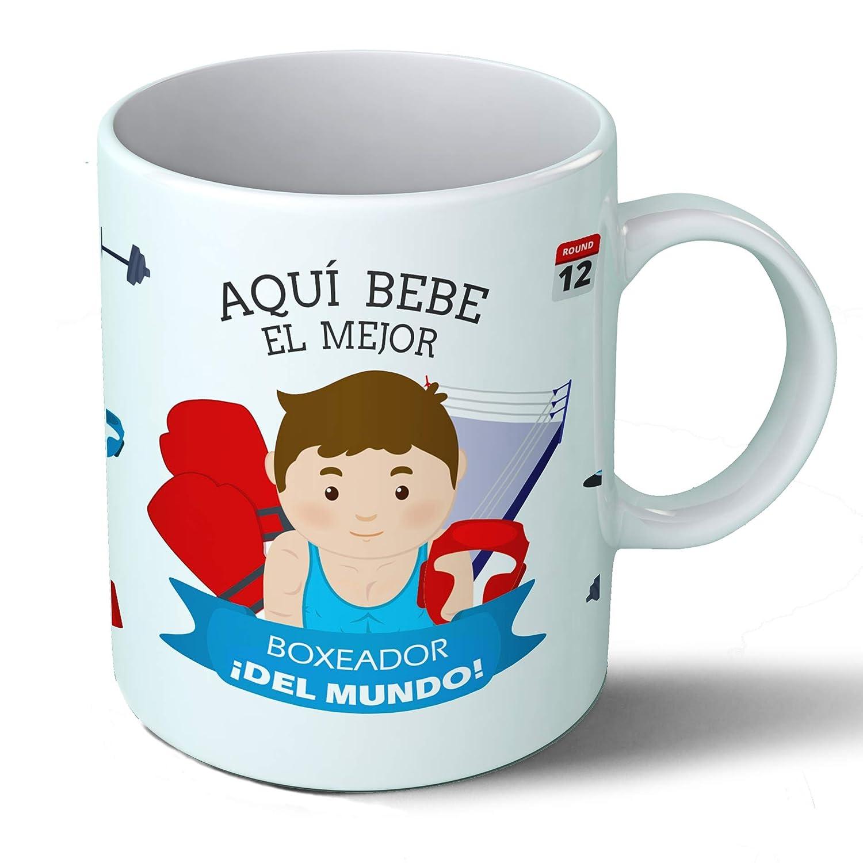 Planetacase Taza Desayuno Aquí Bebe la Mejor Auxiliar de enfermeria del Mundo Regalo Original Ceramica 330 ML: Amazon.es: Hogar
