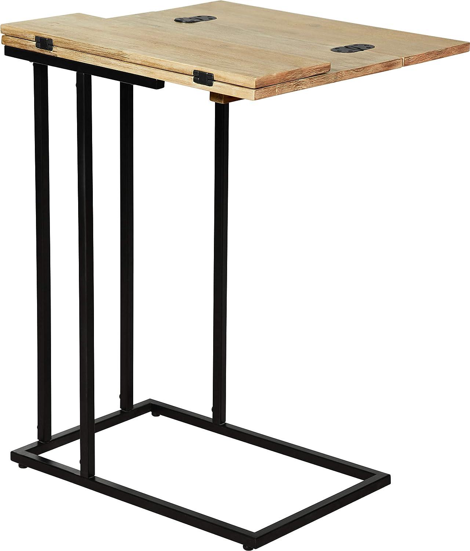 Serta FUST10064B Harton C-Table Black /& Gold Millwork Holdings