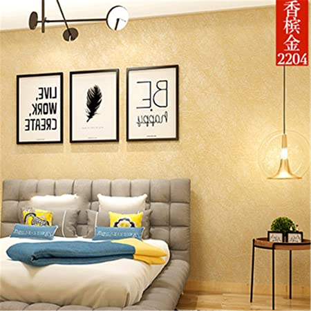 Modern Minimalist Living Room Bedroom Wall Color Plain Background Silk Seamless Wall Environmental Protection Wallpaper A Amazon Co Uk Kitchen Home