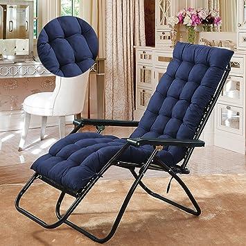 Cojines para tumbona de repuesto para silla reclinable de jardín, almohadillas gruesas de repuesto para silla reclinable de jardín, cojín de repuesto ...