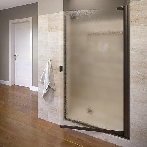 Basco ARMN00A3566OBOR Armon Swing Shower Door, 35.63 in. x 66 in. in, Oil Rubbed Bronze