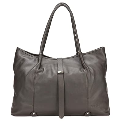 9c708e659f144 Amazon.com: Banuce Extra Large Genuine Leather Shoulder Handbag for Women  Tote Purse Ladies Business Travel Office a4 Work Bag Dark Brown: Shoes