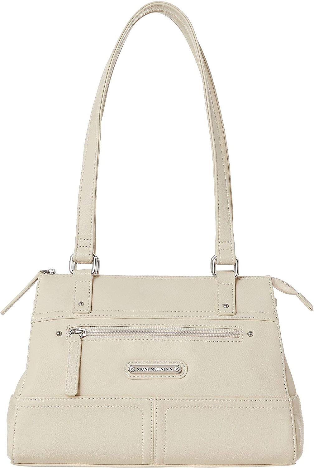 Stone Mountain Dade Satchel Handbag One Size Bone beige
